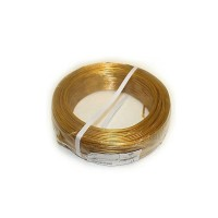 100 meter cable strap 2 x 0_50mmq gold color 220V cable section 0_50 mmq