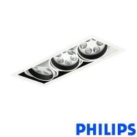 Philips BBX395 3x6LED TurnRound Gridlight Faretto Incasso 18W 40° 3000K Bianco