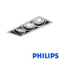 Philips BBX395 3x6LED TurnRound Gridlight Recessed Spotlight 18W 25° 3000K