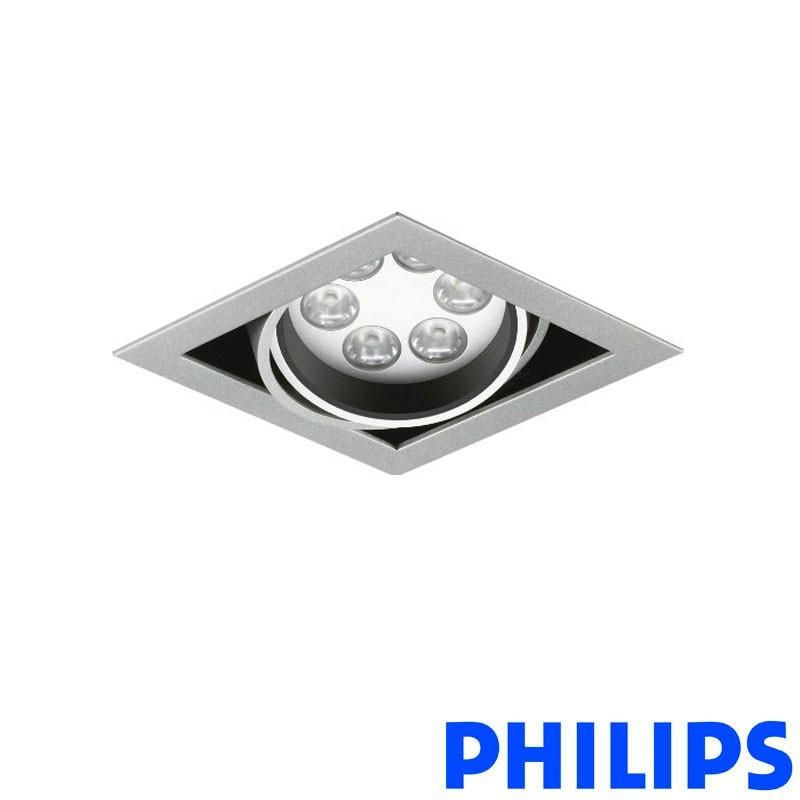 Philips BBX395 1x6LED TurnRound Gridlight Recessed Spotlight 18W 40° 3000K