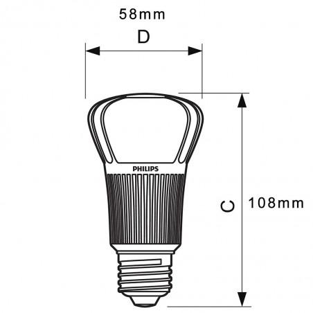 Philips Master LEDbulb D 12-60W E27 2700K 806lm LED Lamp