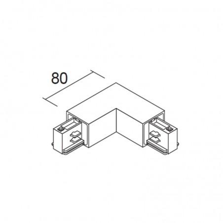 Ivela 7655-10 - W30 Power Coupling L Black Track Three Phase