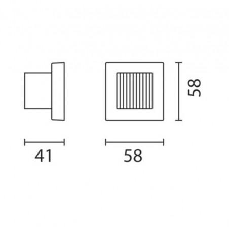IGuzzini BB07 Glim Cube LED Luce Calda 3200K Applique da Parete Esterno Outdoor