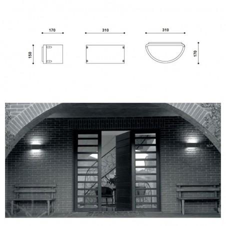 Augenti 4560W Meridian Plus Applique Lampada da Parete Biemissione Esterno IP65