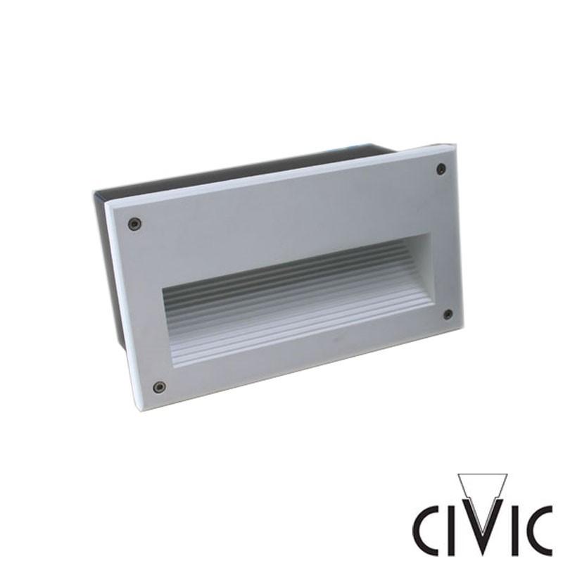 Civic Eolo 1x13W Incasso a Parete per Esterno Bianco JEN.13MRV