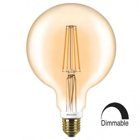 Philips Classic LED globe 125 E27 7W-50W 2000K 630 lm Dimmer Vintage Bulb