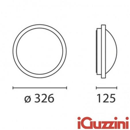 iGuzzini B836 iFace Bianco Applique Plafoniera 26W Fluroscente Esterno Outdoor