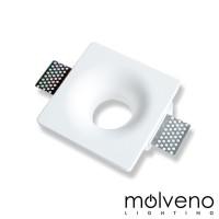 MOLVENO LIGHTING Slide LED Recessed Spotlight Plaster Gypsolyte White