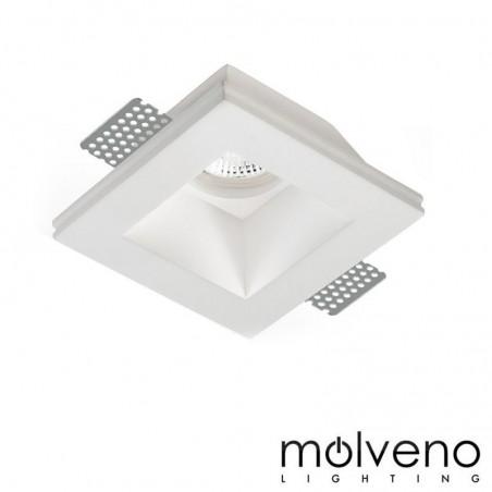 MOLVENO LIGHTING Aragon Glass LED Faretto da Incasso Gesso Vetro Quadrato