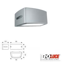 Boluce Blues Mini 8072 Applique Wall Lamp Bidirectional 13W IP65 Silver