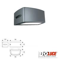Boluce Blues Mini 8072 Applique Lampada Parete Bidirezionale 13W IP65 Antracite