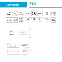 Power supply QLT PLK112 14W 45V 350mA for LED modules