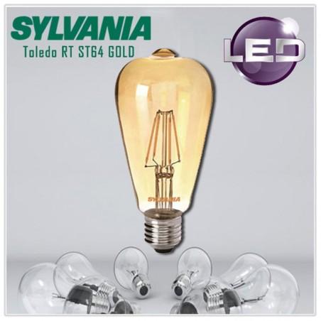 SYLVANIA ToLEDo LED Retro Vintage Candle Lampadina ST64 E27 4W-35W 400 lm 2400K