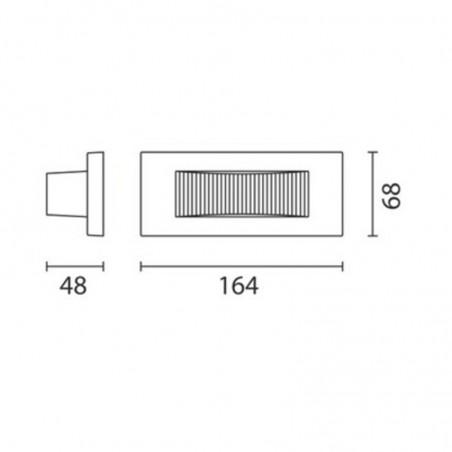 IGuzzini BA98 Glim Cube LED Luce Calda 3200K Applique da Parete Esterno