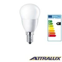 Attralux LED E14 3.2W-25W 2700K 250lm Opalina Luce Calda Lampadina