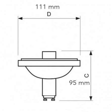 Philips Lamp MASTERColour CDM-R111 Elite 70W 930 40° 689782