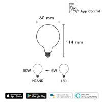 Daylight Italia Lamp Smart Wifi LED Bulb E27 6W 2700K 700 lm Dimmable Amazon Alexa Google Home