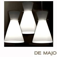 De Majo sospensione 3 luci vetro bianco satinato S3GD