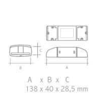 Dimmer QLT LED Driver Dali Dimmable 1-10V 144-288W for Strip LED