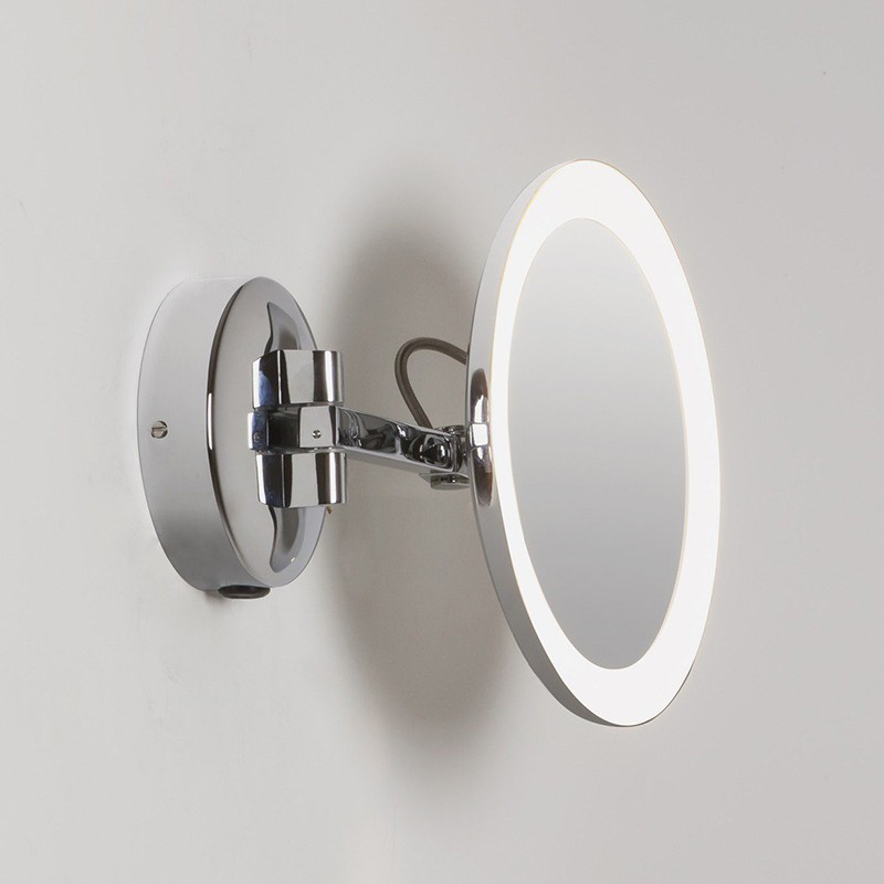 Astro Lighting Mascali Round Led Mirror, Magnifying Wall Mirrors For Bathroom