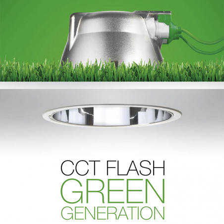 Recessed spotlight Targetti CCT fixed flash 54000EX 18W Fluorescent Dimmable