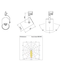 Ideallux Beba LED 28W 3000K 3000lm Proiettore da Binario Nero