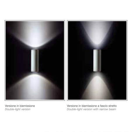 Ares Maxi Ada Applique da Esterno biemissione 2X70W G12 lampada da parete