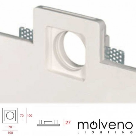 MOLVENO LIGHTING Aragon Flat LED Faretto Incasso Gesso Gypsolyte