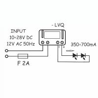 Convertitore tensione corrente QLT LVQ 700mA per 3-6 LED