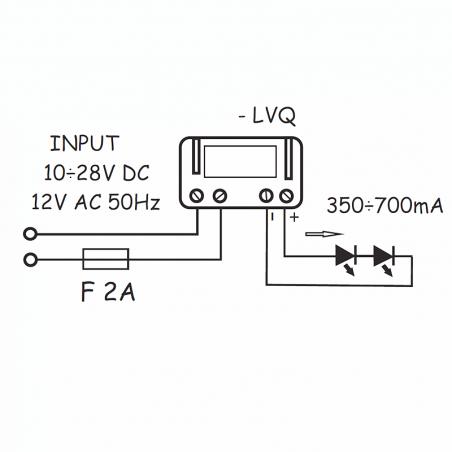 current voltage converter QLT LVQ 700mA 3-6 LEDs