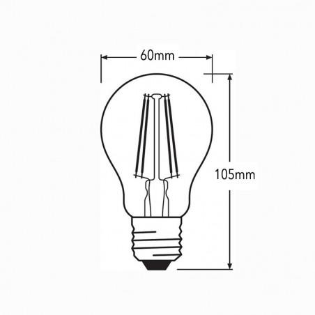 Ideal Lux Bulb Classic E27 LED 4W A60 Lamp 470lm 3000K