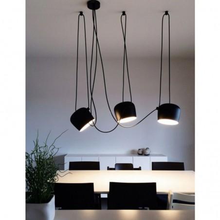 Flos AIM x 3 Light Points LED Suspension Pendant Lamp Black F0090030-F0093030