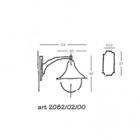 Nobile Lampara Applique Wall Lamp IP43 Anthracite For Outdoor