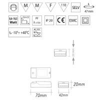 Nice303 compact LED controlgear 1-3 led 700mA Compact power supply power LEDs