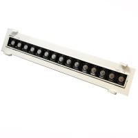 Laser Blade Faretto Lineare Da Incasso Orientabile LED 30W 3000K Luce Calda 2400 lm Bianco/Nero