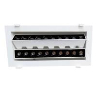 Laser Blade Recessed Double Linear Adjustable Downlight LED 30W 3000K Warm Light 3200 lm White/Black Color
