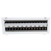 Laser Blade Faretto Lineare Doppio Da Incasso Orientabile LED 60W 3000K Luce Calda 4800 lm Bianco/Nero