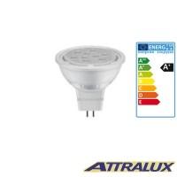 Attralux LED GU5.3 8W-50W 2700K 621lm 36° Luce Calda Lampadina