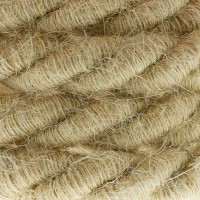 Electric Cable XL Jute Cord 3x Spiral Braided 300 / 300V