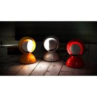 Artemide Eclisse E14 25W Lampada da Tavolo Rosso