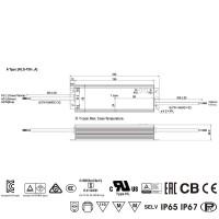 Alimentatore Meanwell HLG-100H-48A 100W 48V 2A IP67 per LED