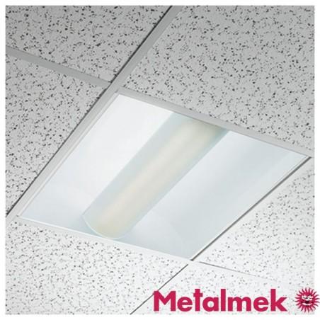 Metalmek 2G11 9121F 2x55W Lampada da Incasso Soffitto 60X60