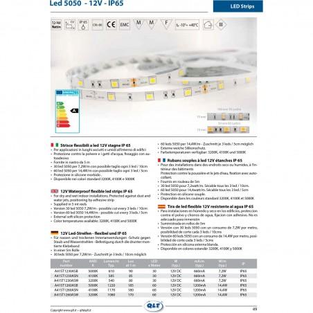 QLT Strip LED 14,4W 12V 4100K IP65 White Natural Light - 1 Meter