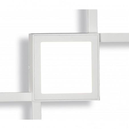 Mantra Mural Lampada Minimal a Led da Parete Quadrata Doppia Luce Indiretta