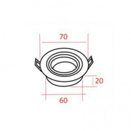 MOLVENO LIGHTING Inka Per LED Mini Faretto Incasso Alluminio MR11