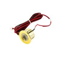 Fai Spot Mini gold Downlight 1W LED Recessed 60° 350mA in PVC