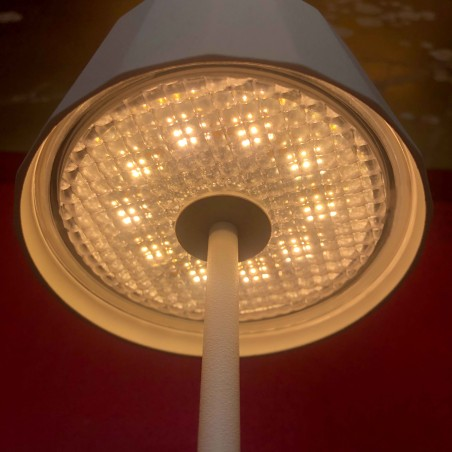 Logica TWIGGY Less Lampada LED da Tavolo A Batteria con Base Ricaricabile a Contatto