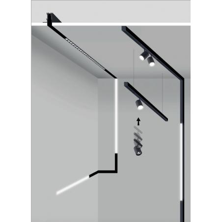 Logica Sistema Klik Klak Proiettore a Sospensione Cilindrico Magnetico a LED per Binario