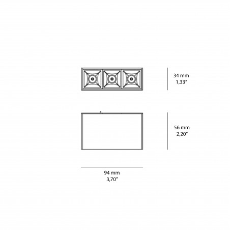 Logica Sistema Klik Klak Proiettore Puntiforme Fisso Magnetico a LED per Binario
