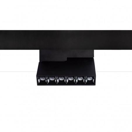 Logica Sistema Klik Klak Proiettore Puntiforme Orientabile Magnetico a LED per Binario